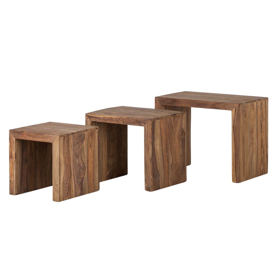 Beistelltisch Yoga 3er Set Sheesham Massiv Natur Wolf Möbel Jetzt Bestellen Unter Https Moebel Ladendirekt Wohnzimmertische Couchtisch Beistelltische