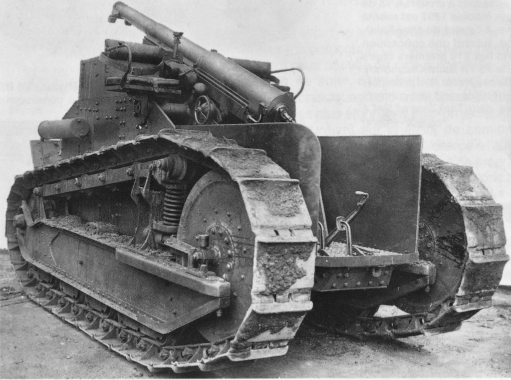 Renault Ft Howitzer. A Renault Ft-17 tank with its turret ...
