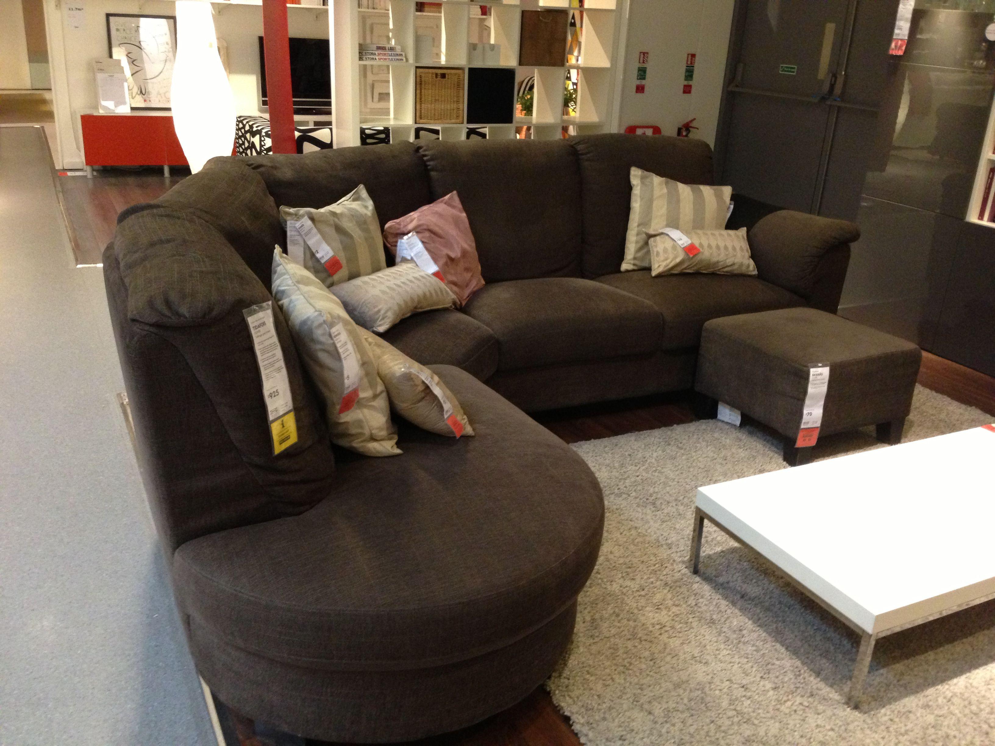 Tidafors Tullinge Grey Brown Terry Corner Sofa