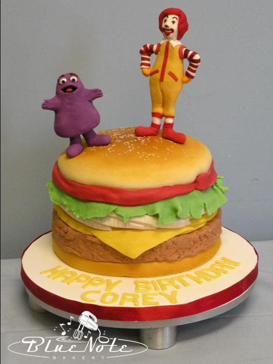 McDonalds BigMac Cake Grimace Ronald McDonald Mcdonalds Burgercake