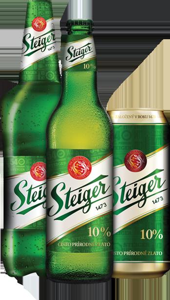 Steiger 10° svetlý   Pivovar Steiger---5/10 kapsli