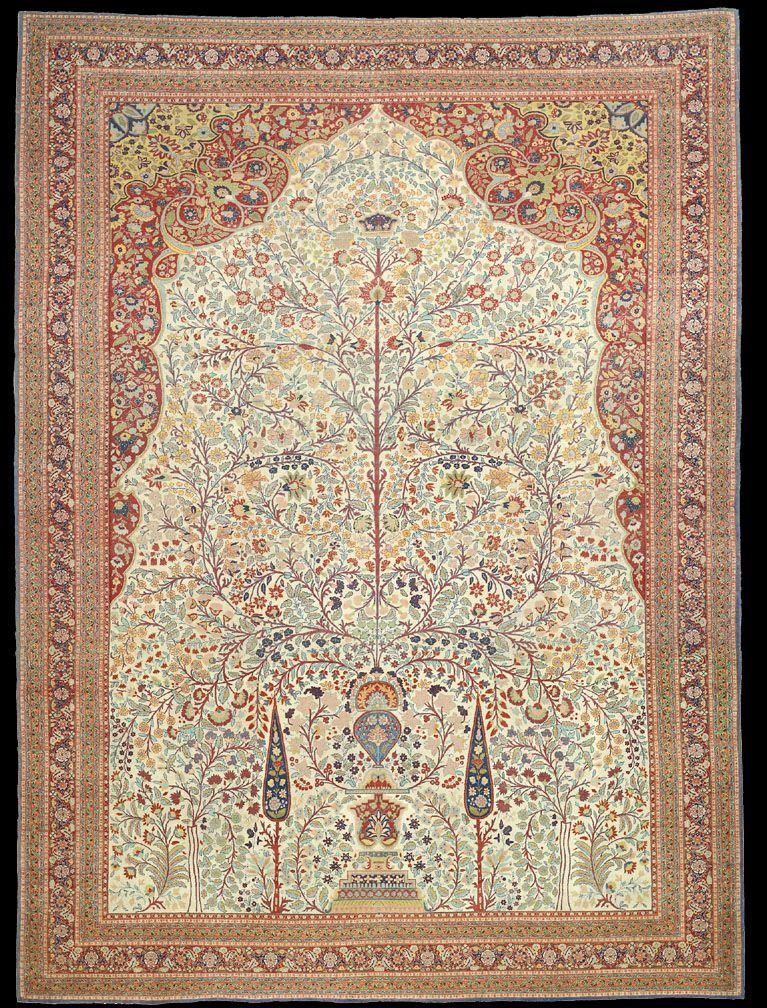 A Delicate Antique Hadji Jalili Tabriz Rug Rugs On Carpet Claremont Rug Company Rug Company