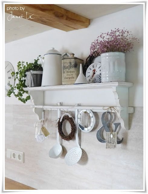 Nice Shelf Display Repined By Www Claudiadeyongdesigns Com Chic Kitchen Shabby Chic Homes Shabby Chic Decor