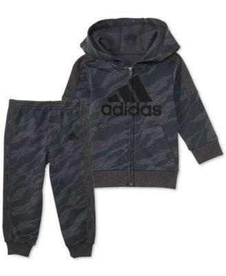 adidas Baby Boys 2 Pc. Camo Print Hoodie & Jogger Pants Set