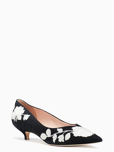dfc1fef877bc3 Kate Spade Daze Kitten Heels, Black\Off White - Size 8.5 | Products ...