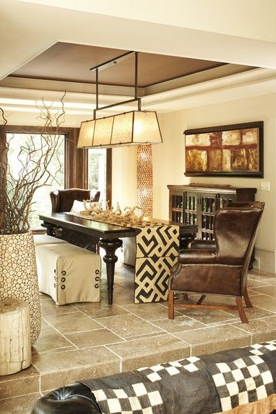 Love The Runner Dangling To Floor And Covered With Antlers South Shore Decorating Blog Eclectic Dining RoomsAfrican