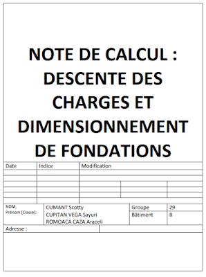 Note De Calcul Descente Des Charges Et Dimensionnement De Fondation Lire Note De Calcul De Calcul Calcul Beton Descente De Charge