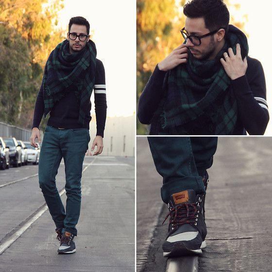62cb739ded505 Reinaldo Irizarry   Forever 21 Sweater, Zara Scarf, Hot Topic Jeans, Levi s  Sneakers, Tom Ford Glasses