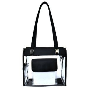 Clear Handbag with Front Pocket - 12 in Wide (Apparel) http://www.picter.org/?p=B004TSM71Y