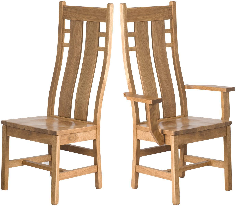 Seneca #Chair in Rustic Oak