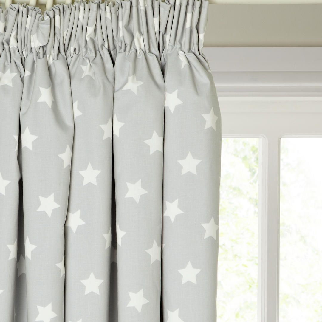Little Home At John Lewis Star Pencil Pleat Pair Blackout