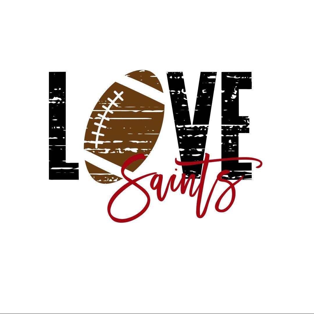 Download Love Saints Distressed Football SVG | Saints, Saints ...