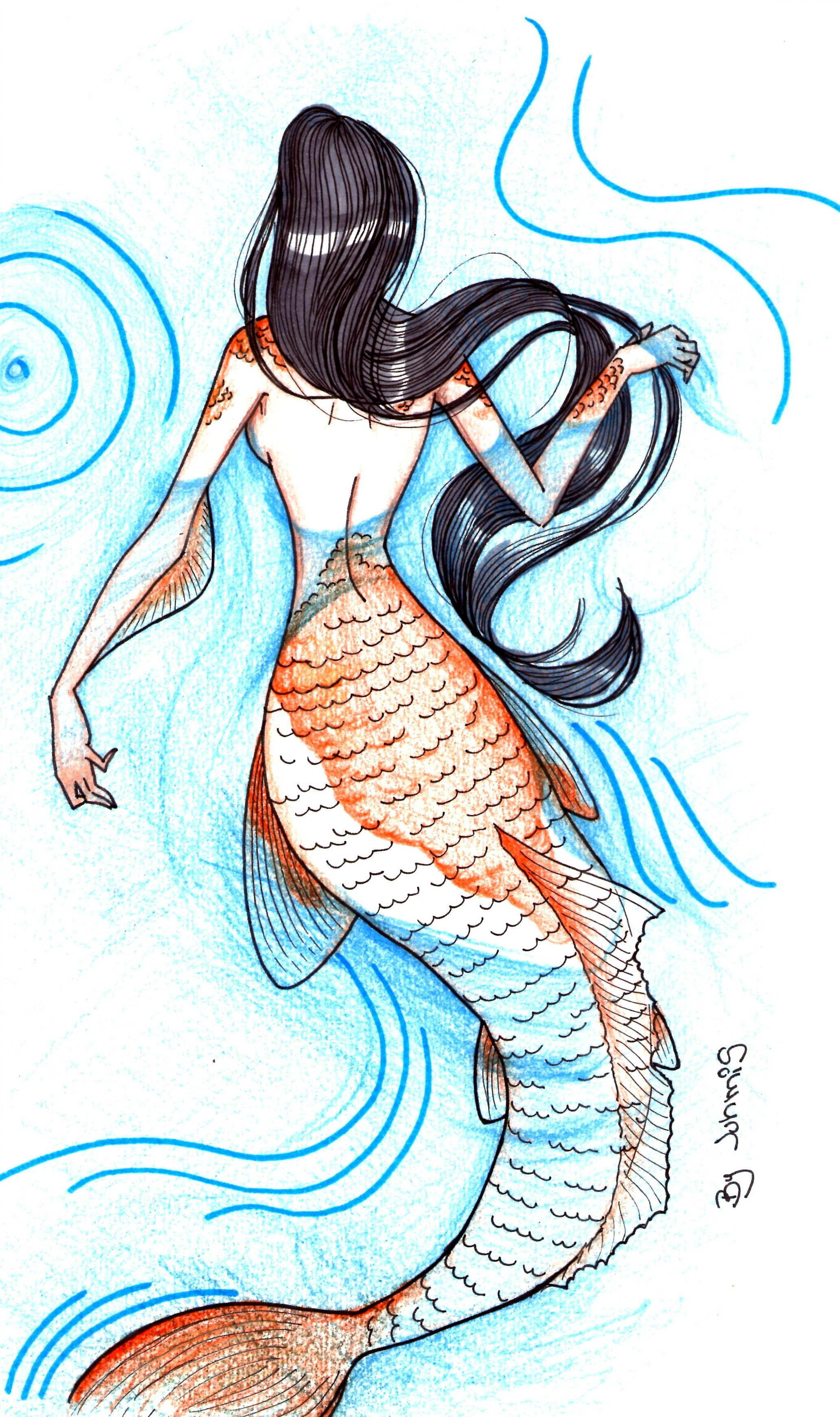 Sereia Sereia Desenho Desenhos De Sereias Tumblr Desenhos