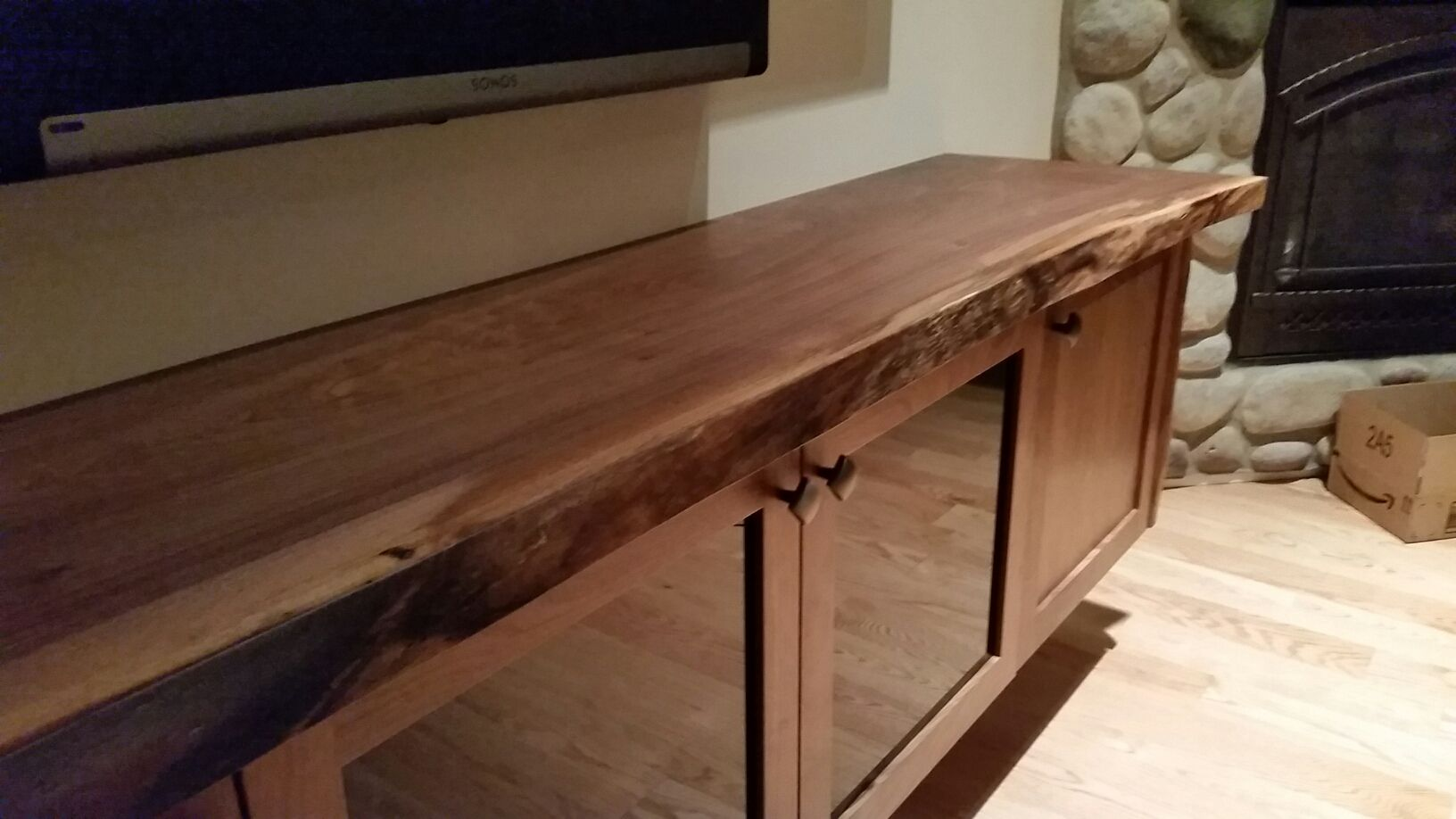 Live Edge Floating Black Walnut Entertainment Center Perfect For Your Living Entertainment Center Diy Plans Entertainment Center Entertainment Center Kitchen