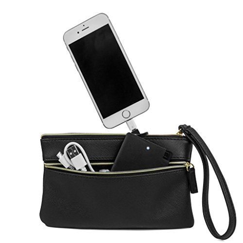 new arrival f11a3 4be22 MUNDI Back Up Buddy Phone Charger Womens Wristlet Clutch With ...