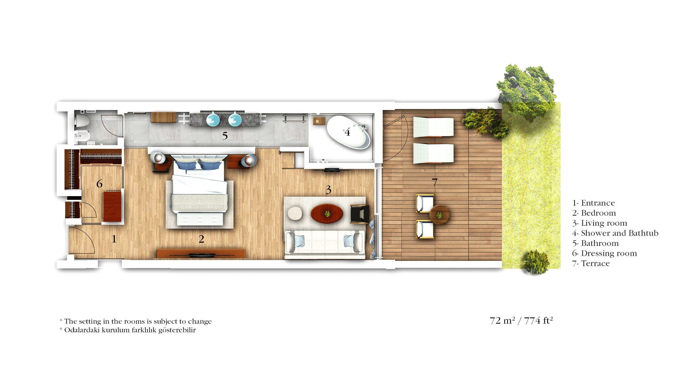 Mandarin Oriental Bodrum Garden View Room 72 Sqm 775 Sqft Luxury Accommodation Room Planning Bodrum