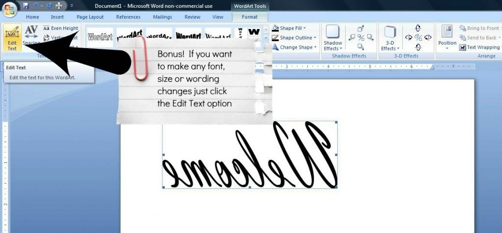how to reverse image {and text} in word Reverse text, Flipping - degree in microsoft word
