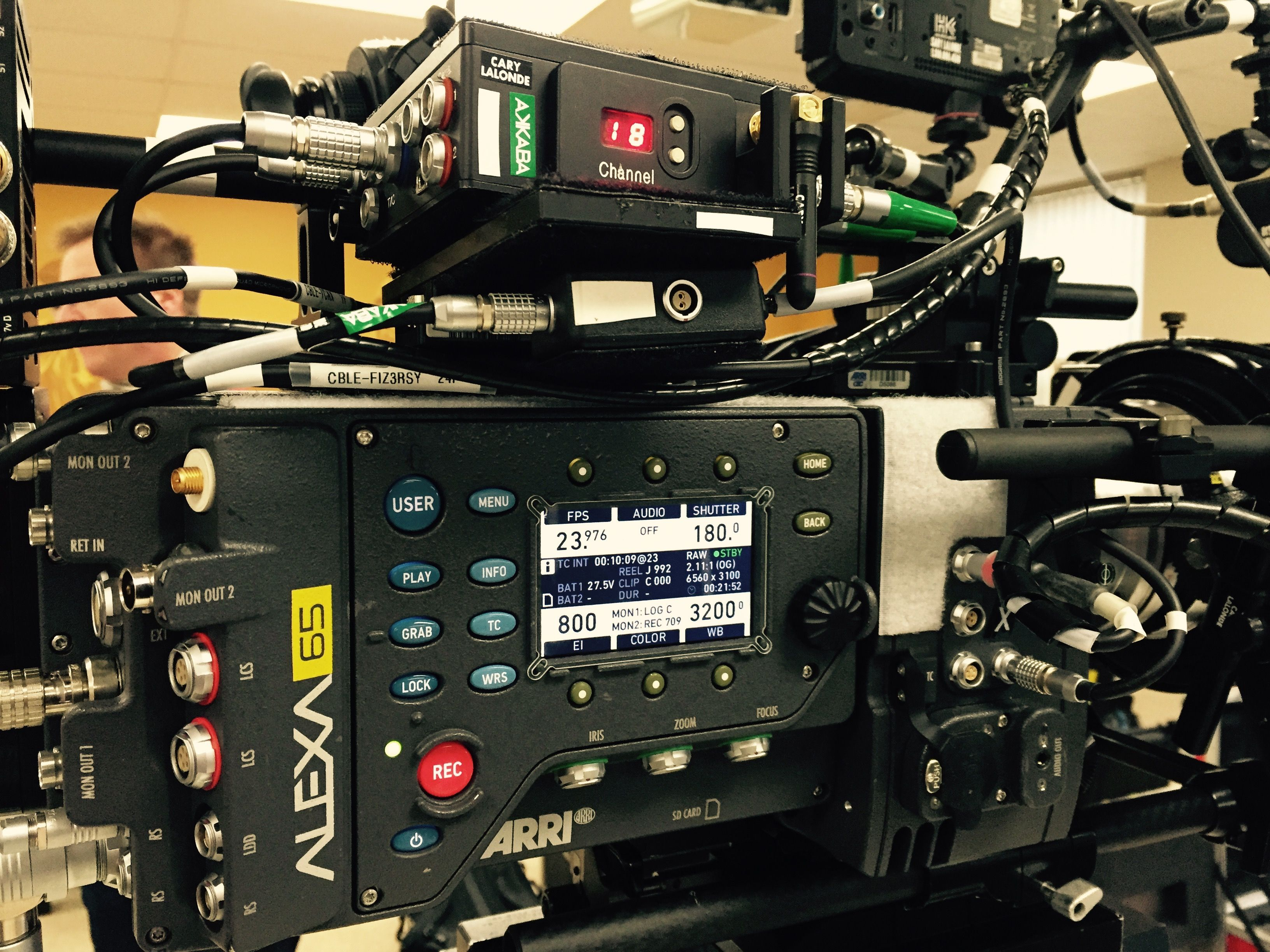 The big reveal! Two Alexa 65s from ARRI, fully loaded and