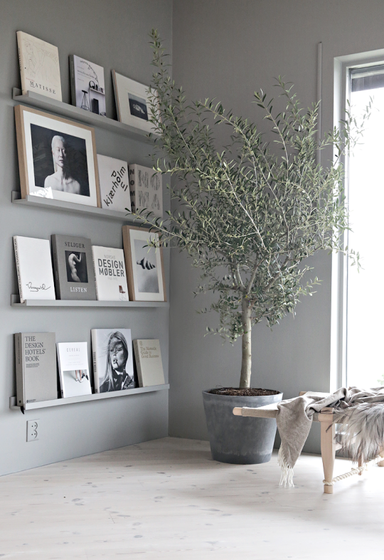 Grey book wall of Nina Holst SALAS Pinterest Book wall Walls