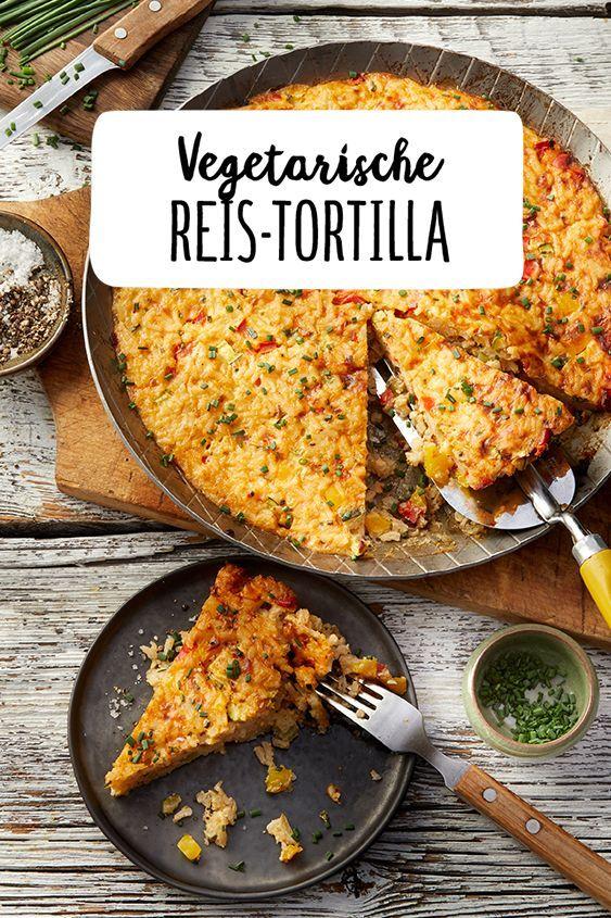 Reis-Tortilla Vegetarische Reis-Tortilla veggie ohne fleisch leckeres Abendessen Mittagessen Backen Kochen Vegetarische Reis-Tortilla veggie ohne fleisch leckeres Abendessen Mittagessen Backen Kochen