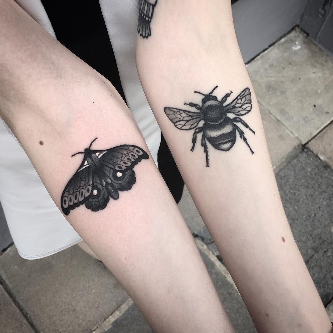 60 Wondrous Moth Tattoo Ideas Body Art That Fits Your Personality Tattoos Bee Tattoo Moth Tattoo