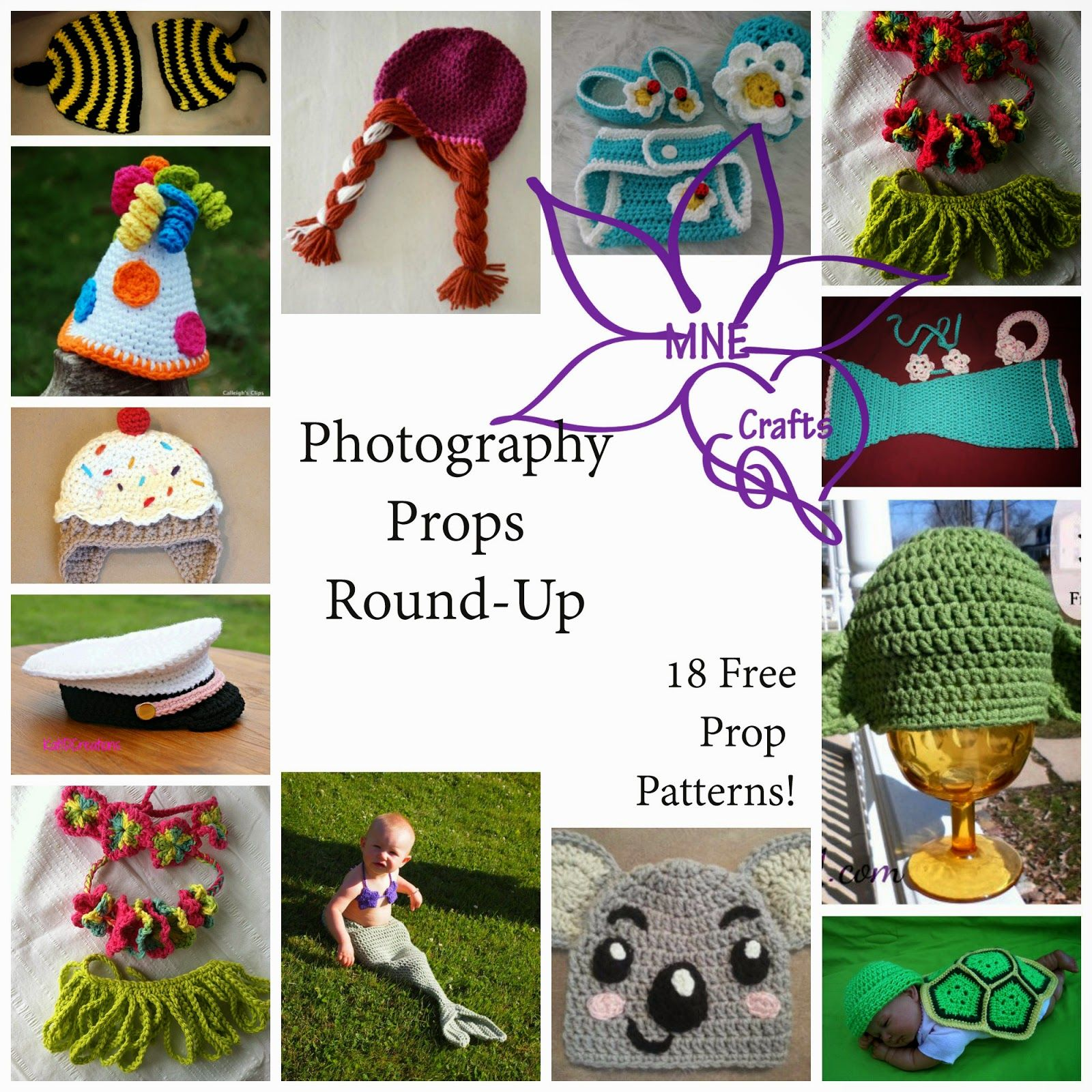 MNE Crafts: Photography Props Round Up - 18 Free Patterns | Crochet ...