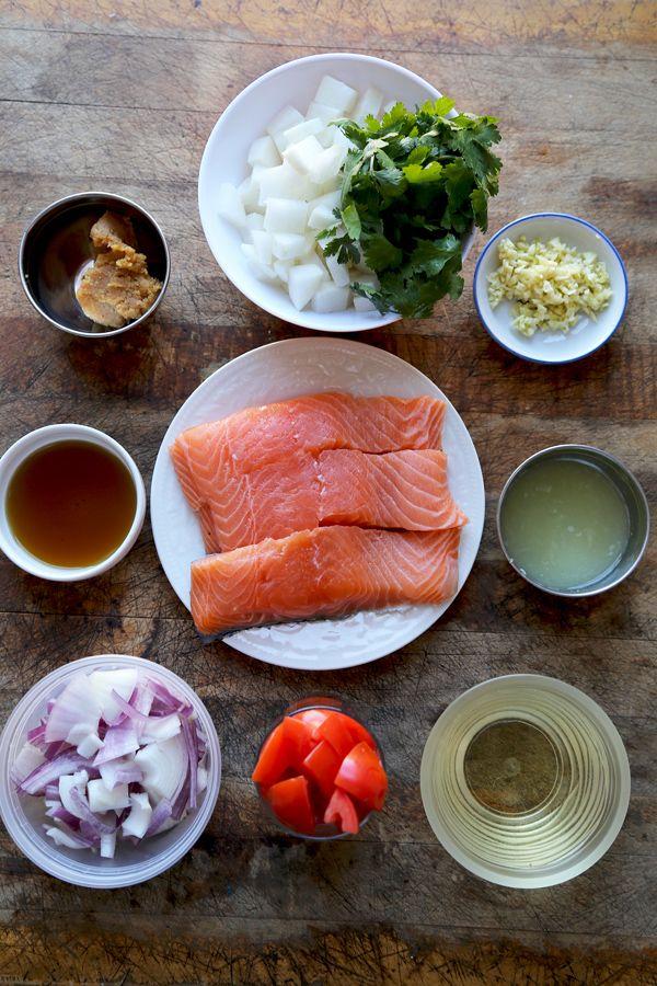 Salmon sinigang – Filipino sour soup