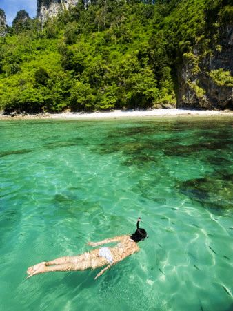 Woman Snorkelling at Maya Bay