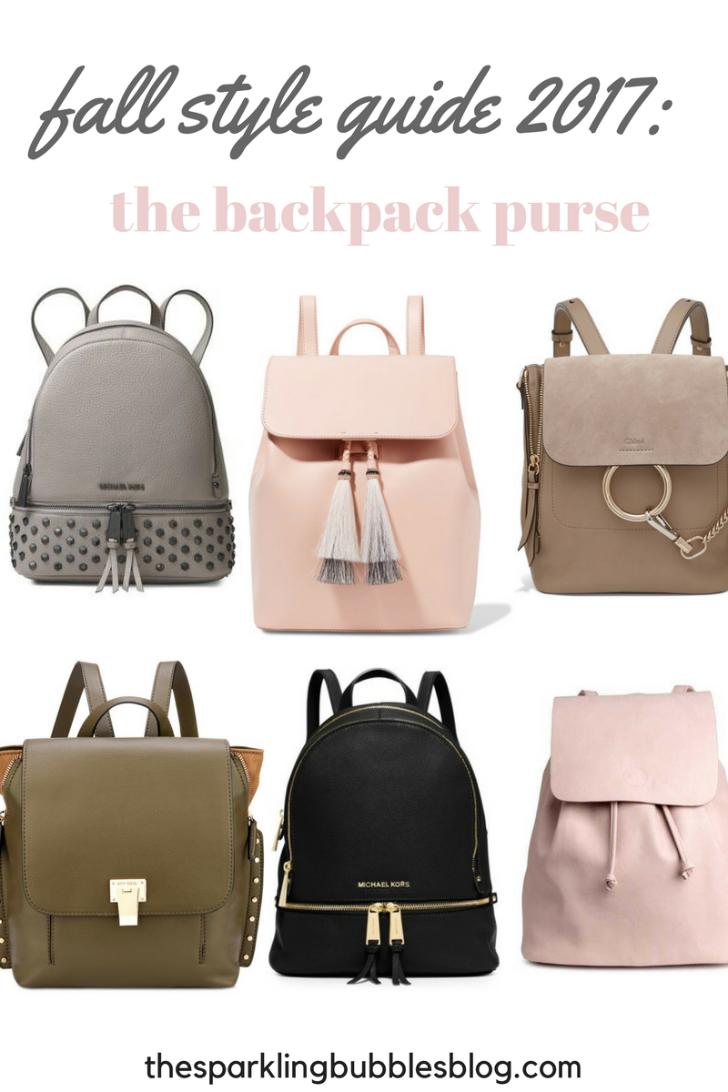 how to wear a backpack purse 2017