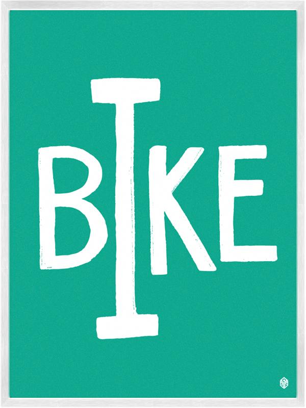 I Bike Print   My Little Underground
