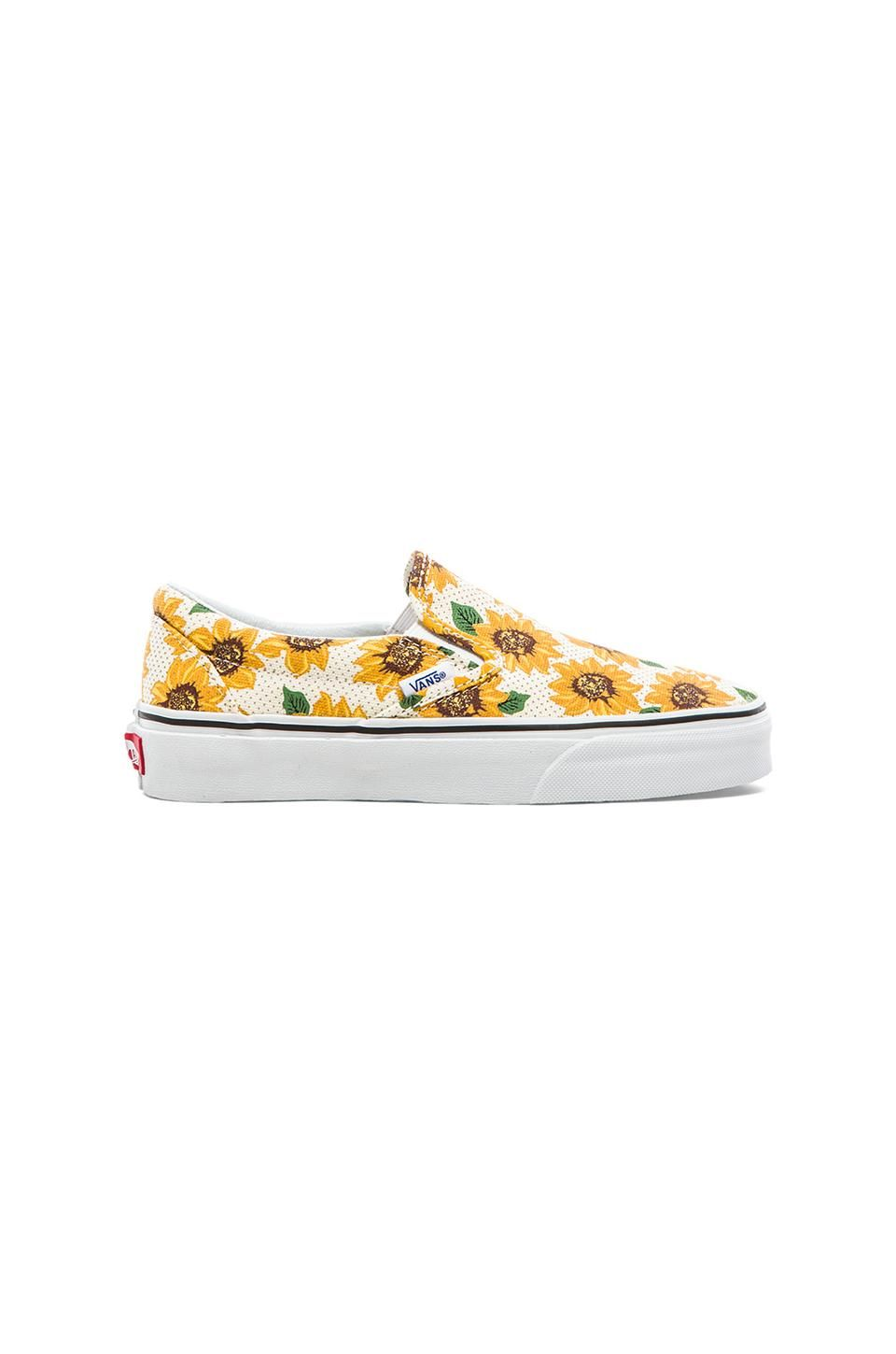 a71406f7b1958e Vans Classic Sunflower Slip On in True White