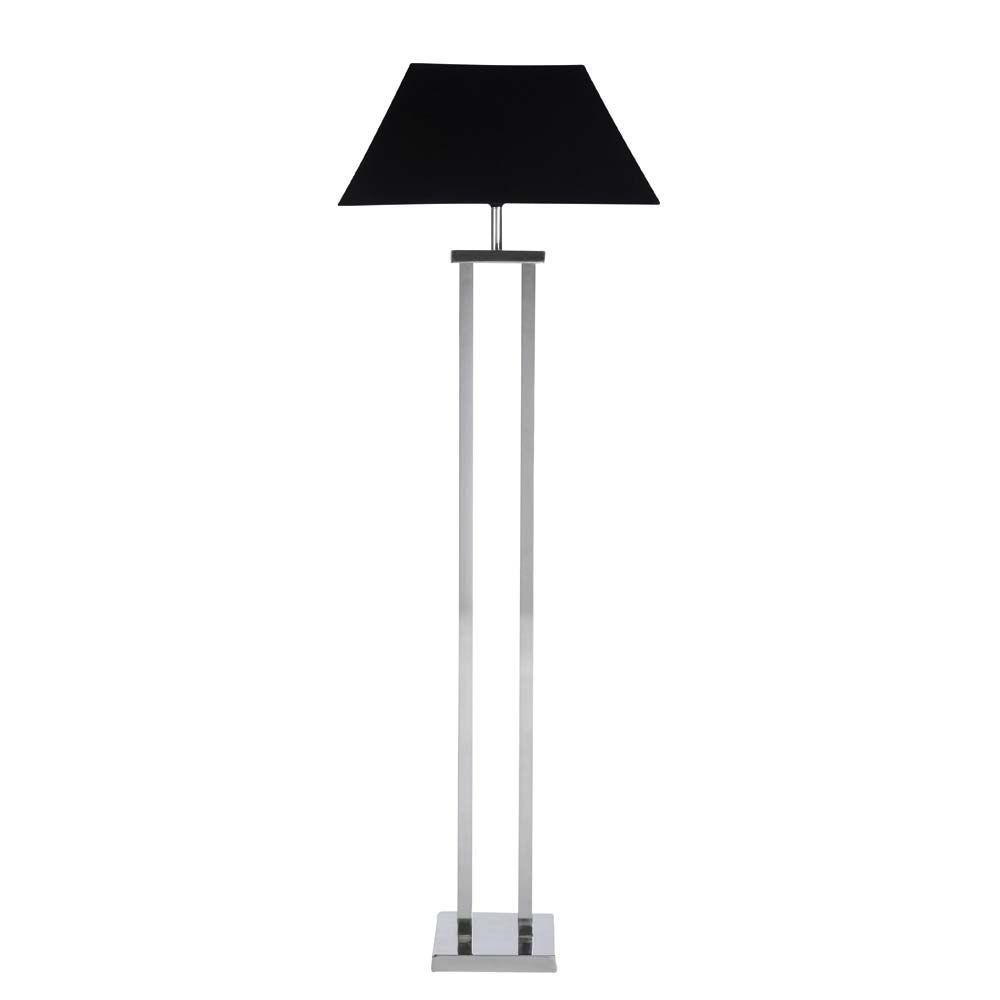 lampadaire en m tal chrom et tissu h 140 cm chenonceau. Black Bedroom Furniture Sets. Home Design Ideas