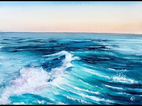 Making Waves Techniques For Painting Ocean Waves In Watercolor