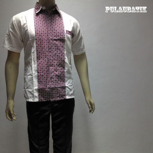BATIK PRIA KOMBINASI TERBARU RC661  Model baju batik pria