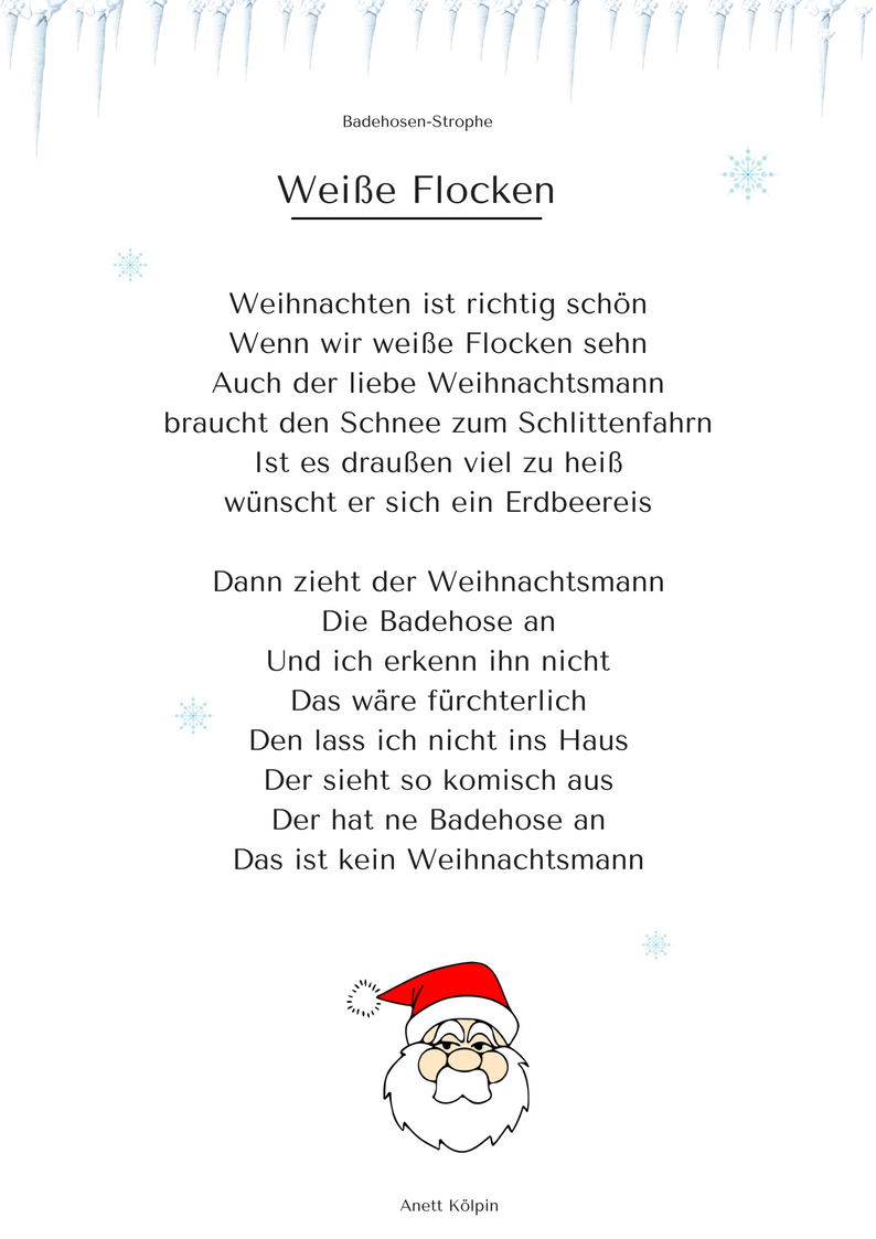 wei e flocken 2 weihnachtsgedicht lied mp3. Black Bedroom Furniture Sets. Home Design Ideas