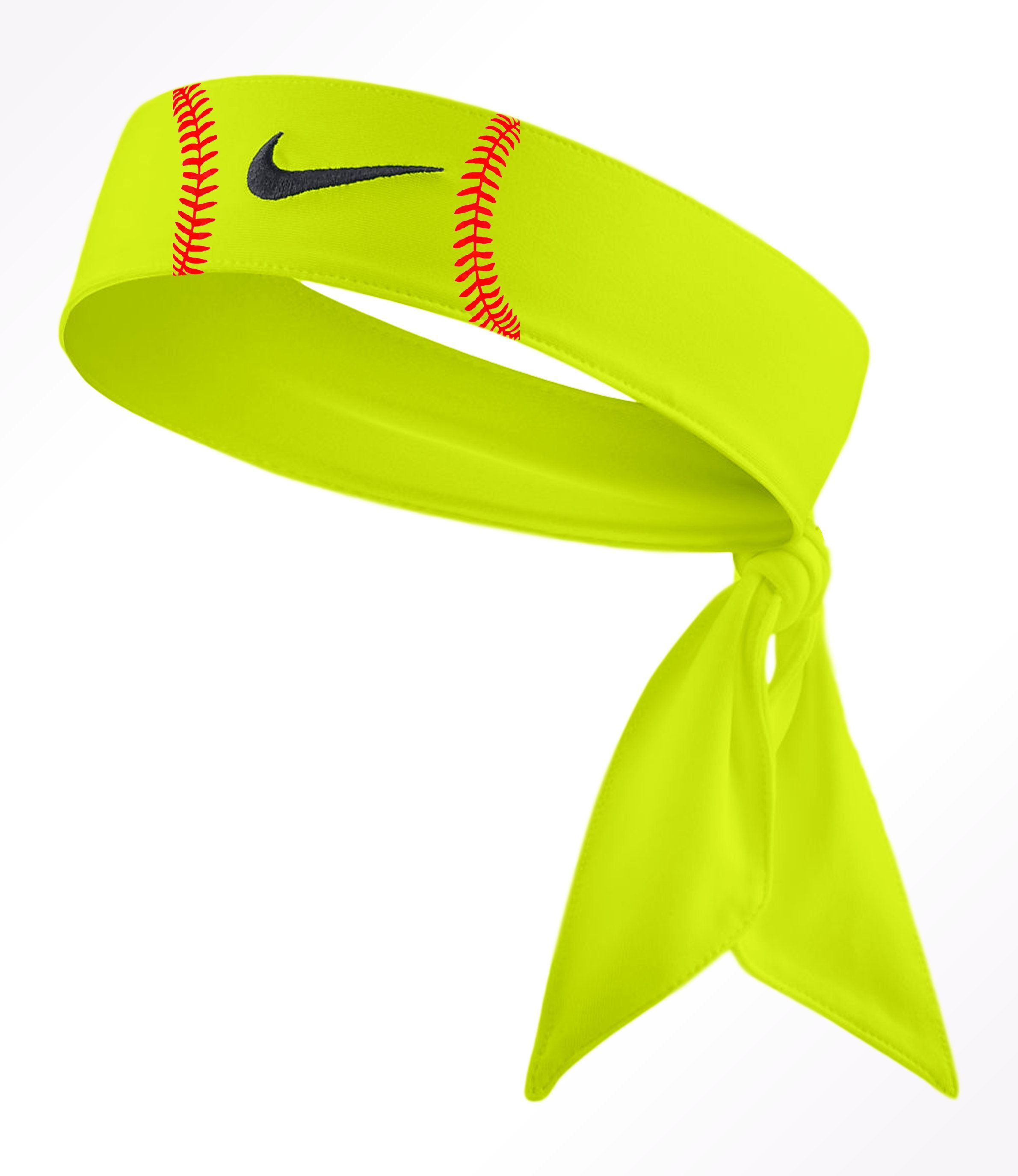 Custom Softball Nike Dri Fit Head Tie Headband 2 0 White Black Red Volt Highlighter Lime Green Sports Tie Headband Nike Tie Headbands Head Ties