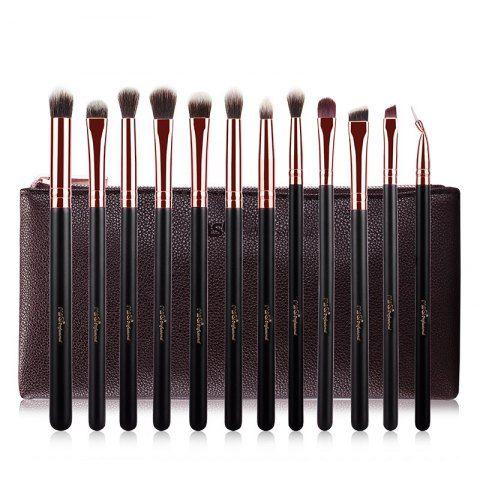 12 pcs eye fiber makeup brushes kit  unicorn makeup