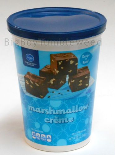 Kroger Marshmallow Creme Making Fudge Fluff Desserts 13 Oz Food
