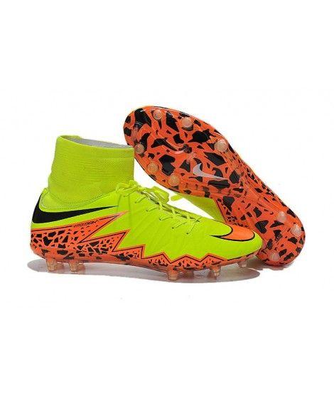 reputable site ba732 76078 Nike Hypervenom II Phantom Premium FG PEVNÝ POVRCH Zelená Oranžový Černá  High Top Kopačky