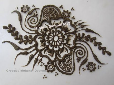 Mehndi Drawing Photos : How to draw arabic flower petals patch mehndi design tutorial