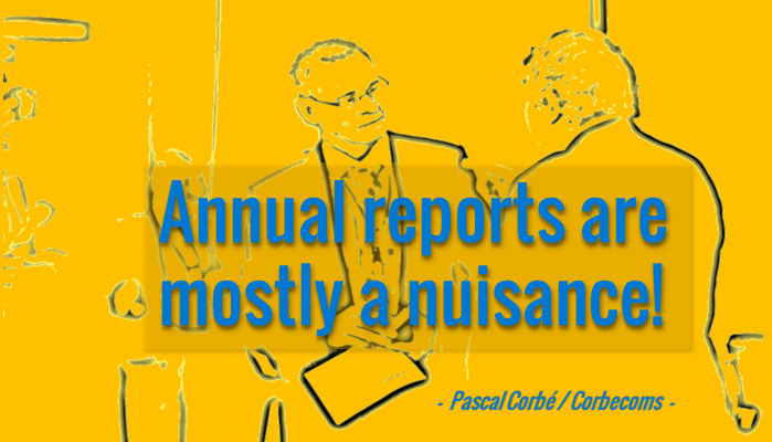 16 Points on How to Improve Annual Reports in Development