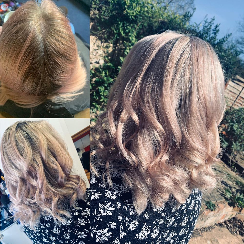 Our Stylist Tia Has Been Keeping Busy Doing Her Mum S Hair At Home We Love This Summery Touch Of Pink Anyone Else Luck In 2020 Hair Boutique Ball Hairstyles Hair
