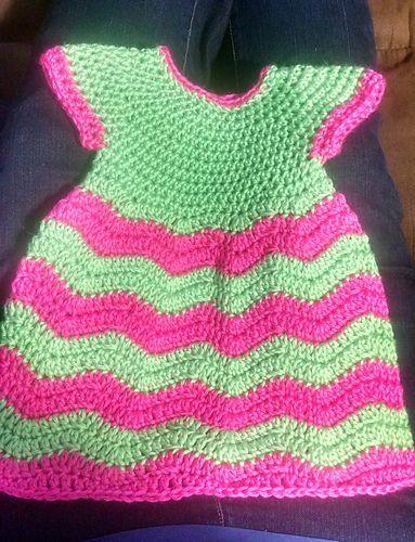 Ravelry: HeavyTatt73's Chevron Chic Baby Dress