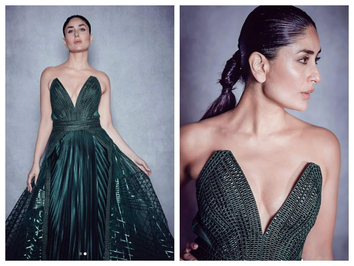 Bebo looks gorgeous in her emerald gown