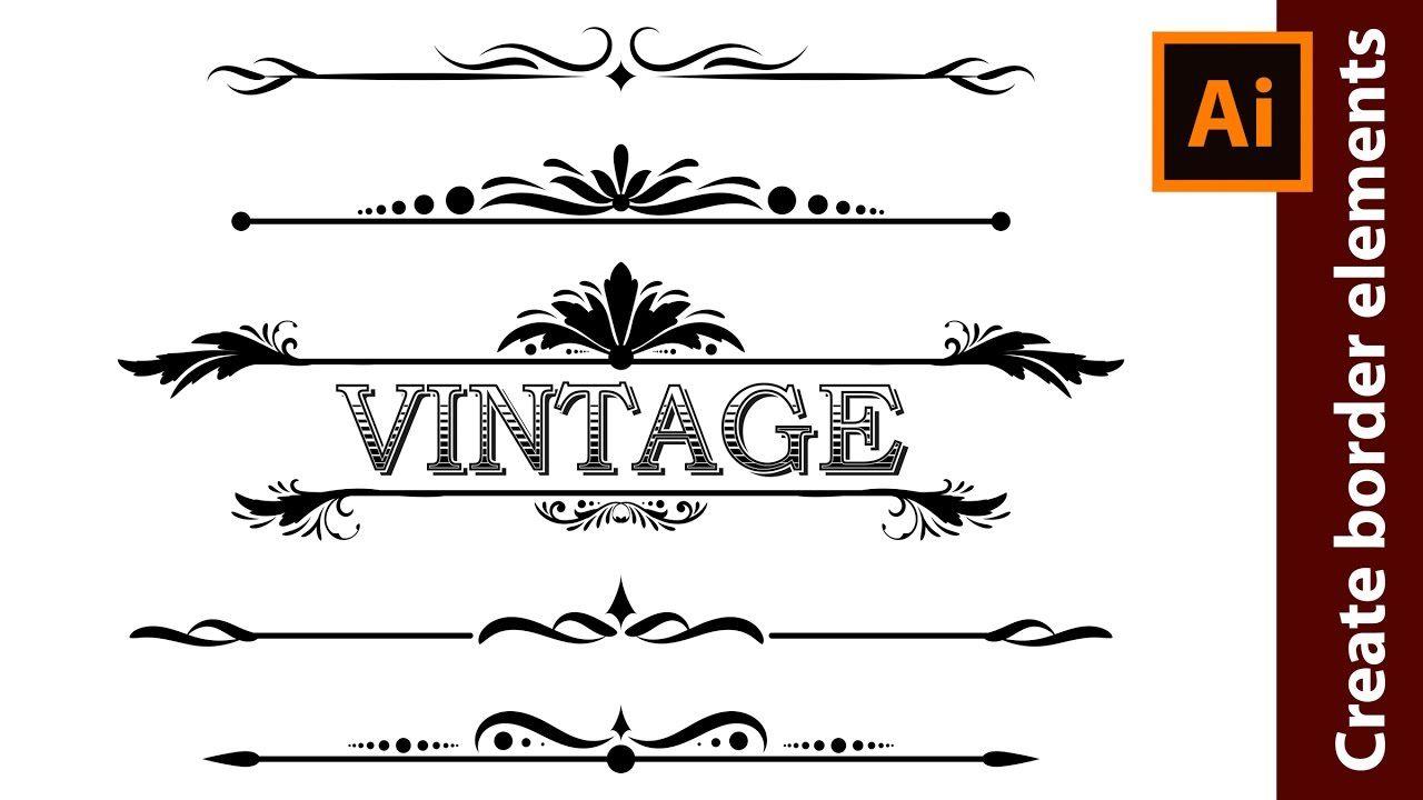 How to design vintage border elements in adobe illustrator a how to design vintage border elements in adobe illustrator baditri Images