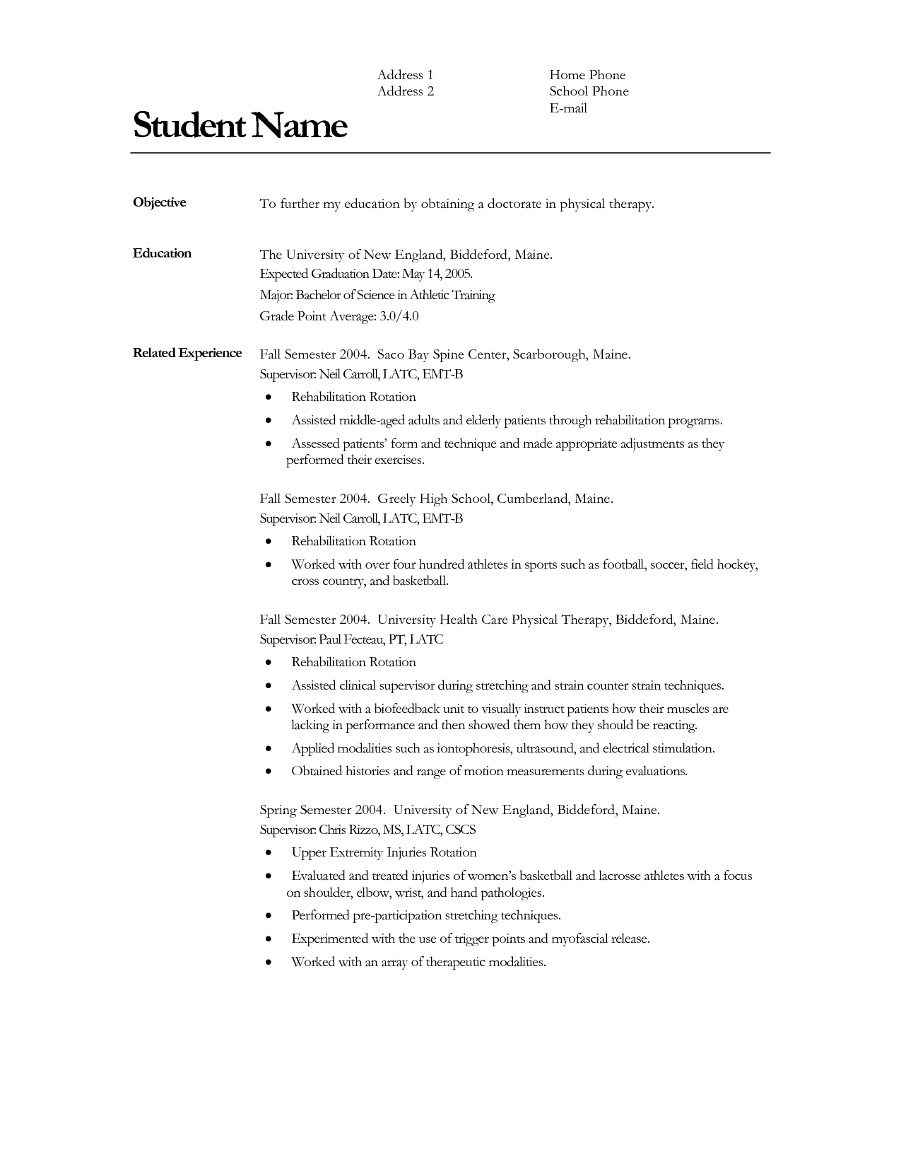 Resume Graduation Dates Listed The Best Estimate Professional