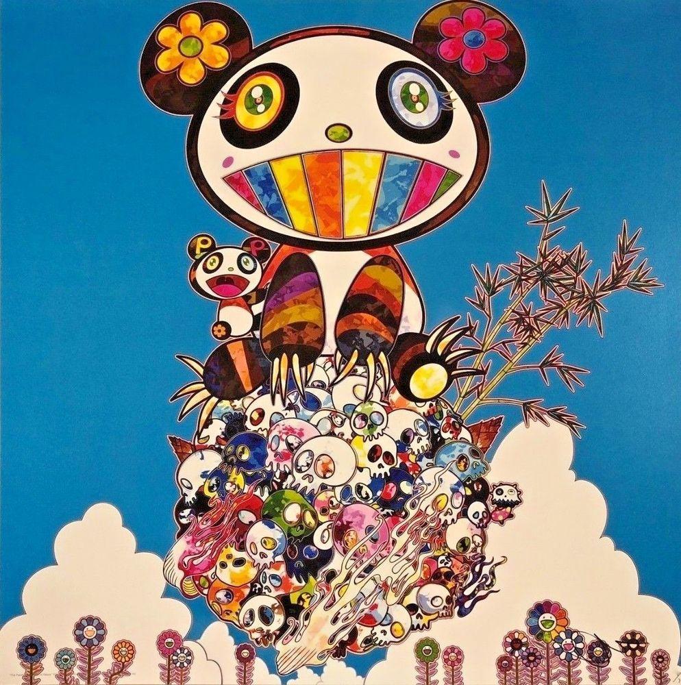 """Takashi Murakami"" The Pandas Say They're Happy."