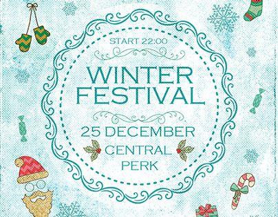 Winter Festival Flyer Pinterest Winter festival, Business
