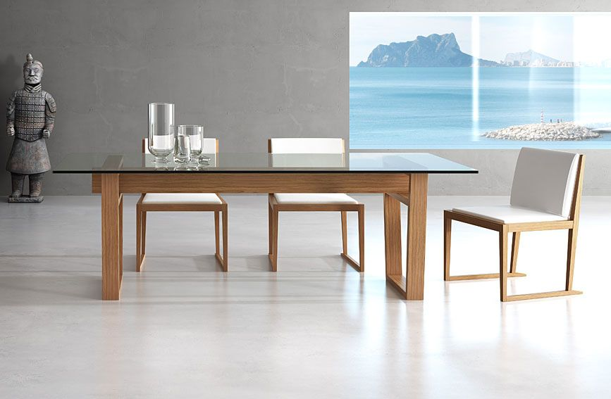 mesa de comedor moderna maralba material madera de roble
