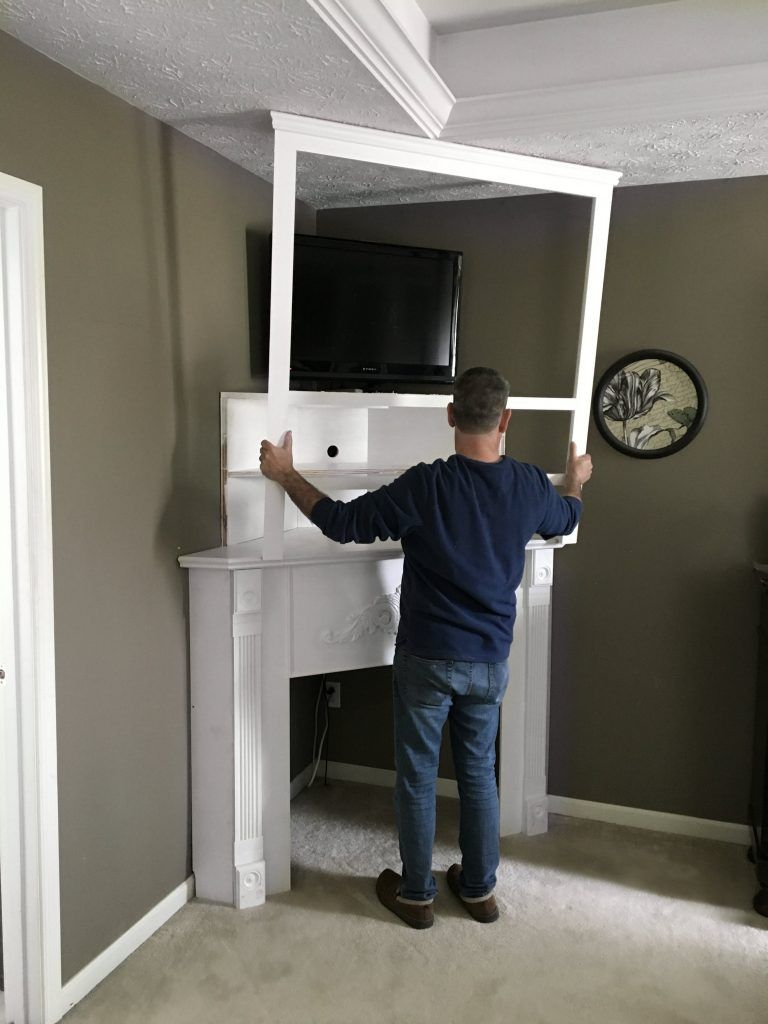 Diy corner fireplace mantels diy corner fireplace mantel in a day snazzy little things